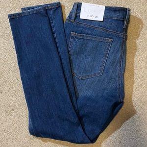 Curvy skinny distressed jeans